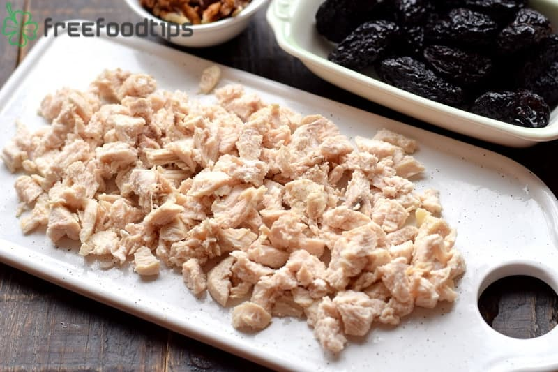 Cook chicken and cut it into small pieces