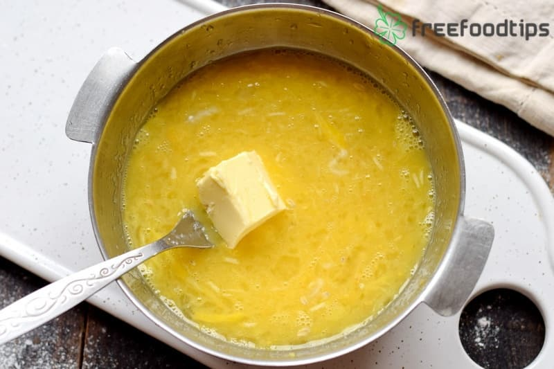 Add butter to the saucepan