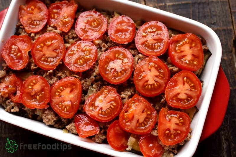 Layer out tomato slices