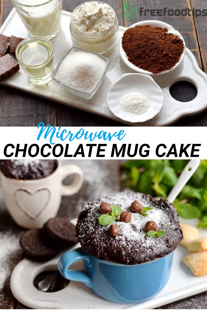Chocolate Mug Cake in Microwave