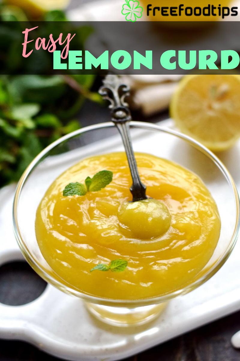 Easy Lemon Curd Recipe