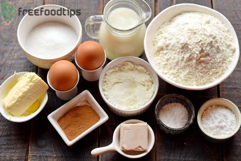 Ingredients for Cinnamon Rolls