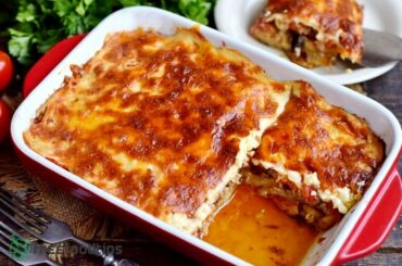 Moussaka beef eggplant casserole
