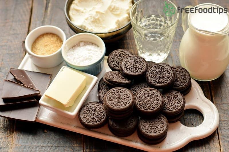 No-Bake Oreo Cheesecake Ingredients