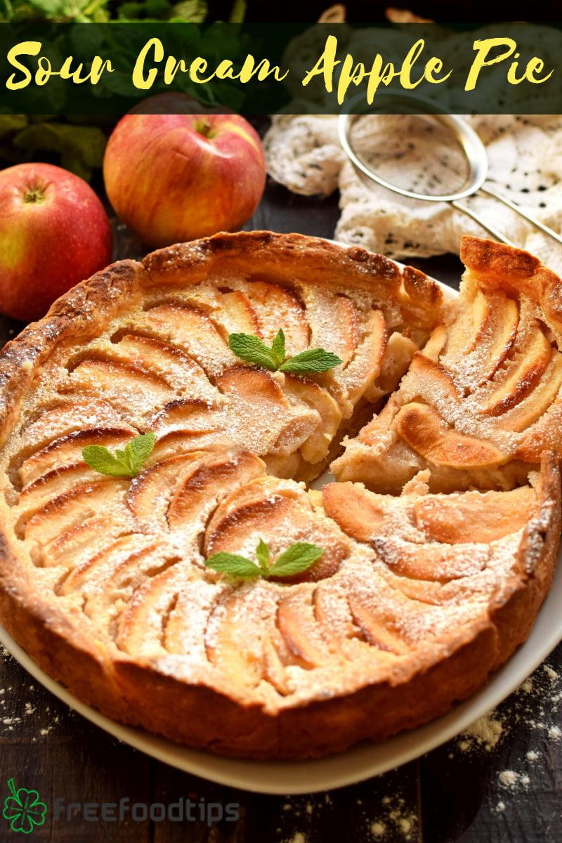 Apple Pie Recipe with Sour Cream