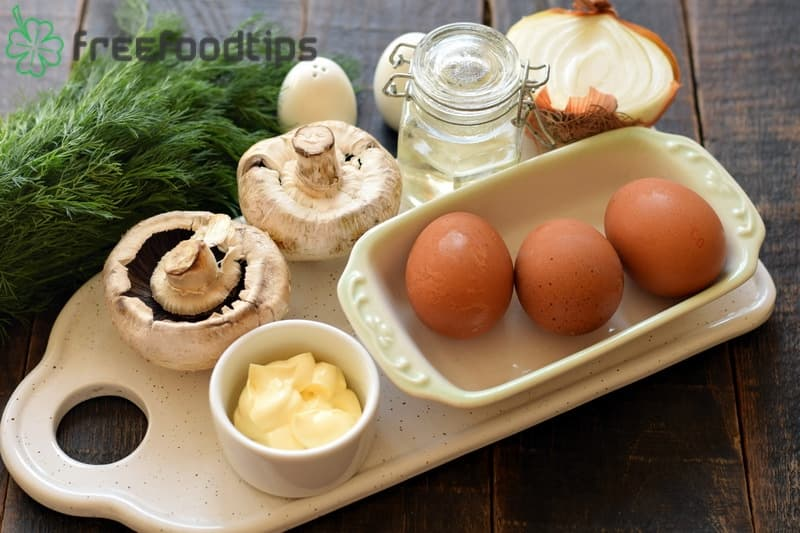 Ingredients for Stuffed Eggs