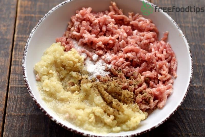 Add onion salt black pepper
