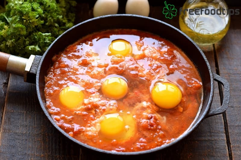 Beat in 5 eggs into the mixture
