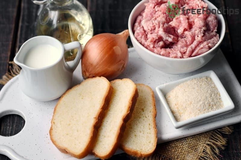Ingredients Russian Meat Patties