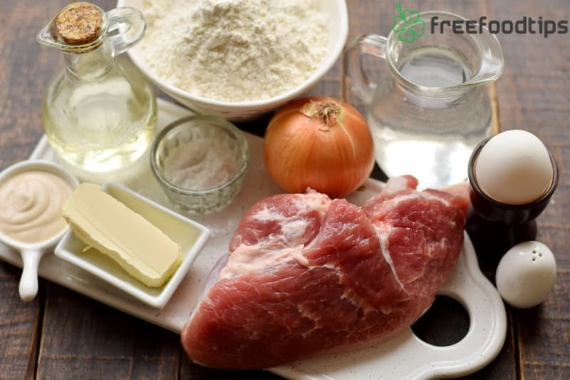 Ingredients for Russian Pelmeni