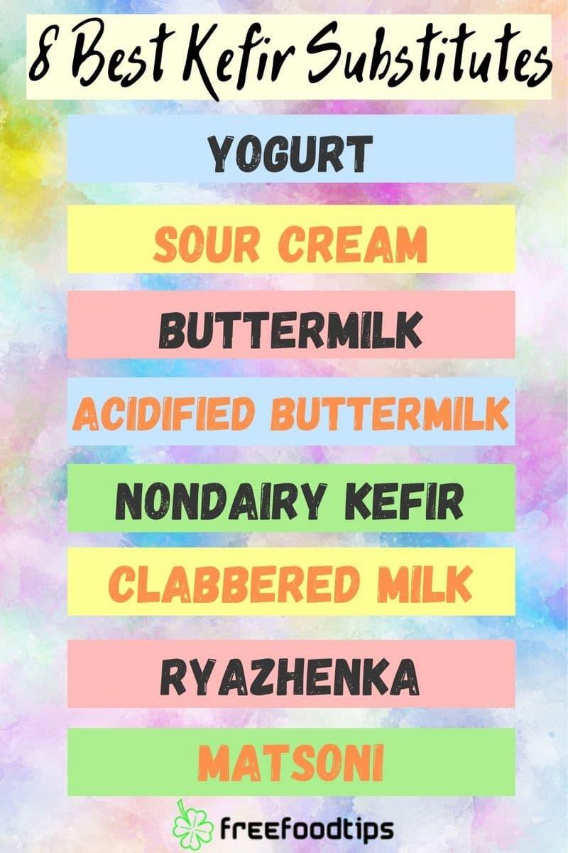 Kefir Substitutes List