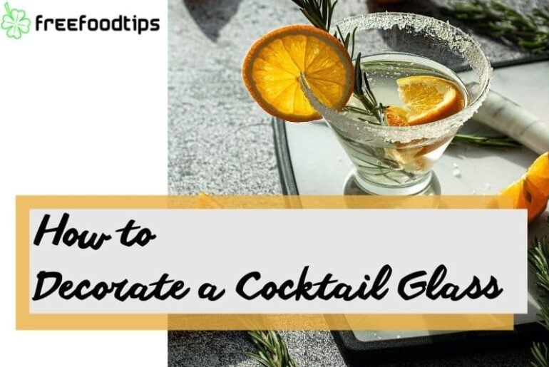 How to decorate rim of cocktail glass